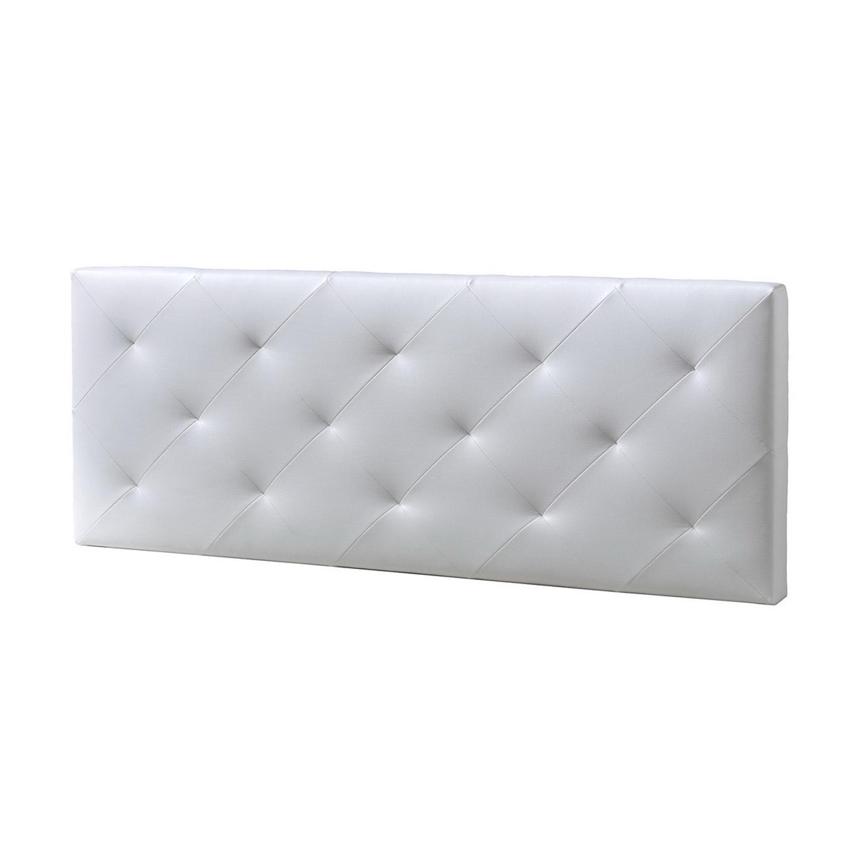 Cabecero-cama-matrimonio-cabezal-tapizado-ROMBO-150x60-Blanco-Polipiel miniatura 3