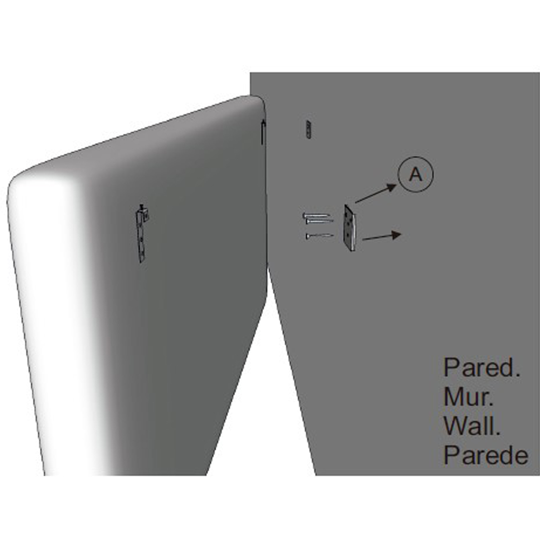 Cabecero-cama-matrimonio-cabezal-tapizado-ROMBO-150x60-Blanco-Polipiel miniatura 4