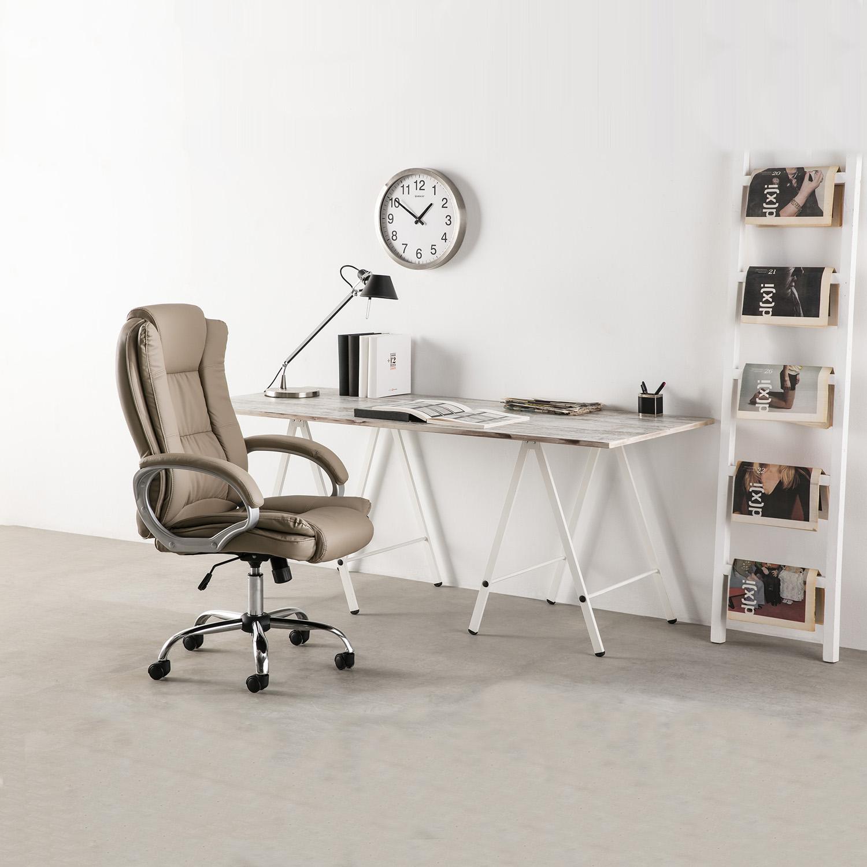 Sillon-Oficina-Despacho-KAREN-Taupe-Ruedas-regulacion-de-altura-y-reclinable miniatura 5