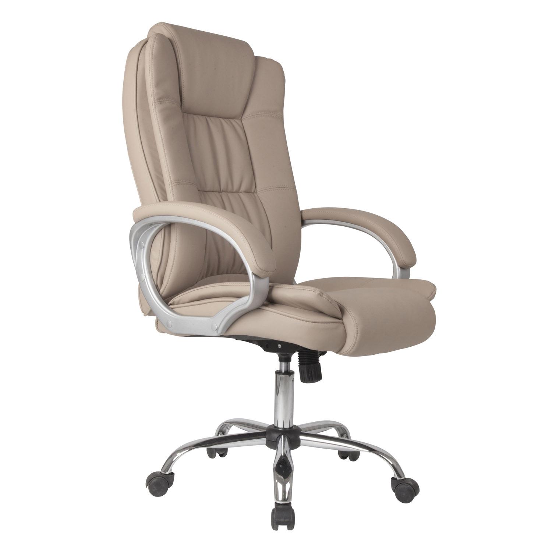 Sillon-Oficina-Despacho-KAREN-Taupe-Ruedas-regulacion-de-altura-y-reclinable