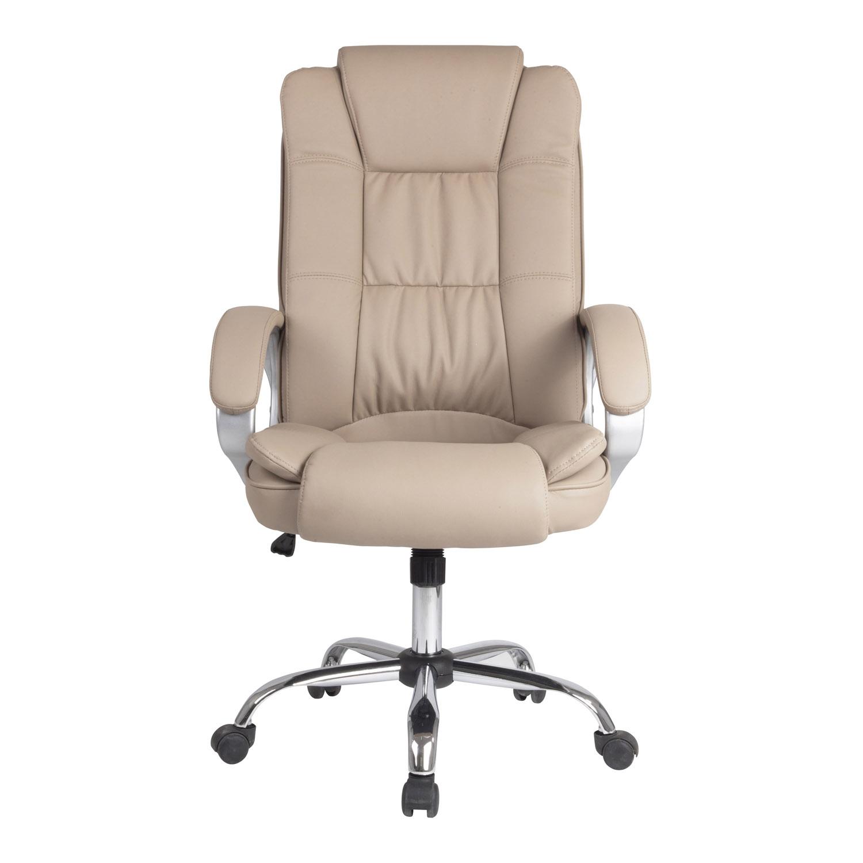 Sillon-Oficina-Despacho-KAREN-Taupe-Ruedas-regulacion-de-altura-y-reclinable miniatura 3