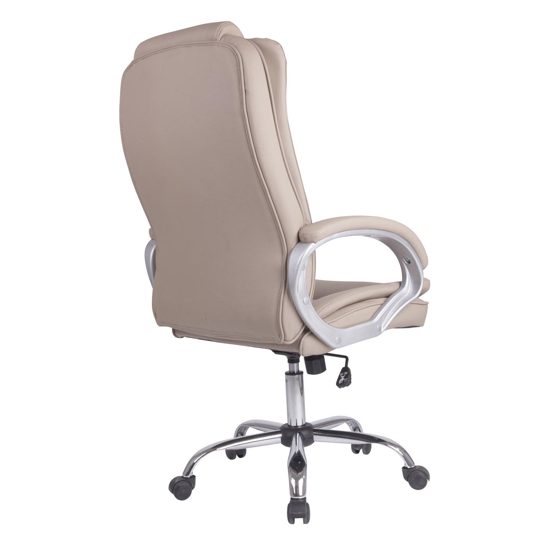 Sillon-Oficina-Despacho-KAREN-Taupe-Ruedas-regulacion-de-altura-y-reclinable miniatura 2