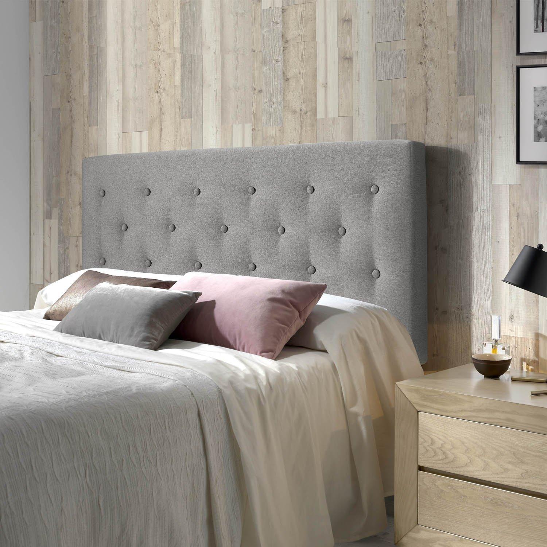 Papier Peint Capitonné Gris détails sur tête de lit tapissée oslo 150x100x8cm capitonné en tissus gris.