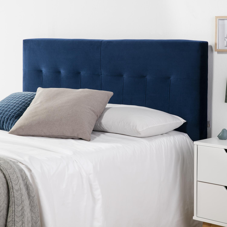 Tête de lit tapissée Napoles 140X100 cm Bleu, pour Couchage de 140, Velours, ... | eBay