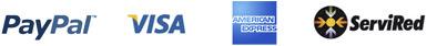 Paypal, Visa, America Express y Servired
